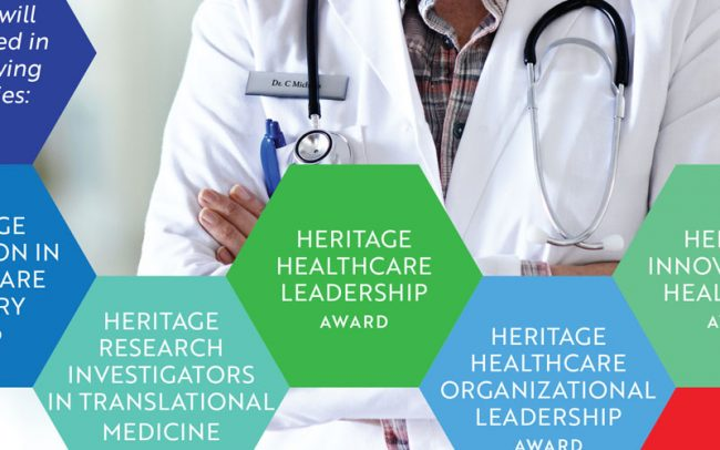 Click to see multichannel event design and promotion for Crain's NY Heritage Healthcare innovation Awards.