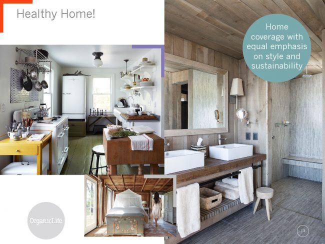 Three large images showcase a kitchen, bathroom and bedroom with the phrase